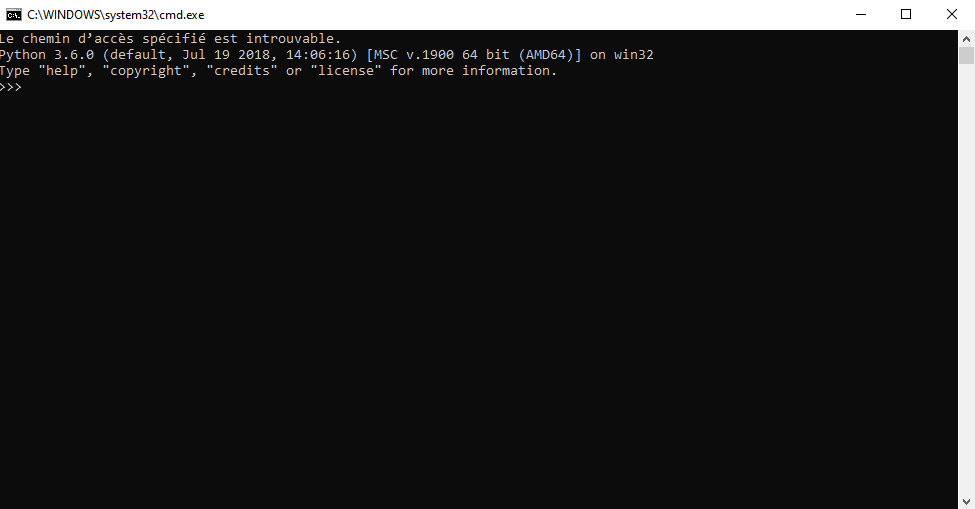 Paraview pvpython opened and connected to server on Windows